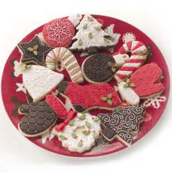 brown red and green christmas cookies cookie decorating