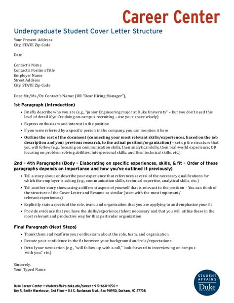 Undergraduate Cover Letter Structure: Wells Fargo