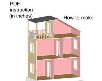dolls house plans pdf doll house plans for american girl or 18 inch dolls 5 room
