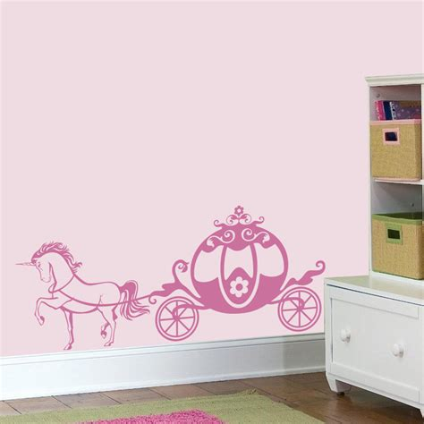 princess wall decals for nursery pink chariot princess wall decal unicorn girly vinyl