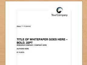 simple whitepaper template free download