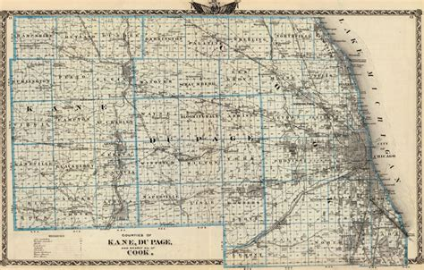 history of du page county illinois classic reprint books dupage and cook county illinois 1876 historic map