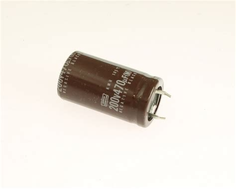 capacitor eletrolitico 470uf 200v kmh200vnsn471m22x40 ucc capacitor 470uf 200v aluminum electrolytic snap in high temp 2020063606
