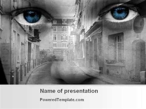 Homeless Children Powerpoint Template By Poweredtemplate Com Youtube Poverty Powerpoint Template