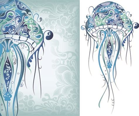 life pattern en español delicate marine life pattern vector free vector 4vector