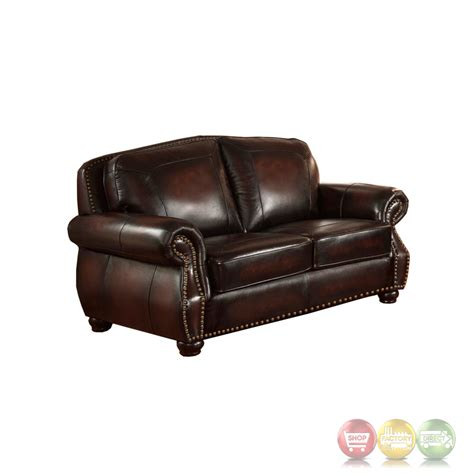 4 leather sofa set hyde antique burgundy top grain leather 4pc sofa set