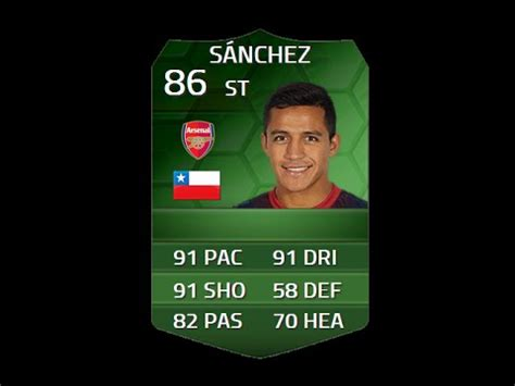 alexis sanchez fifa 14 fifa 14 simotm sanchez 86 player review in game stats