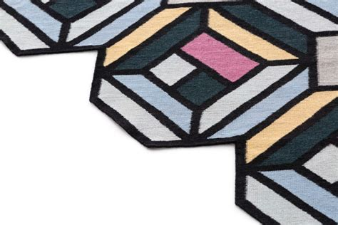 design milk rugs parquet geometric puzzle like kilim rugs by front for