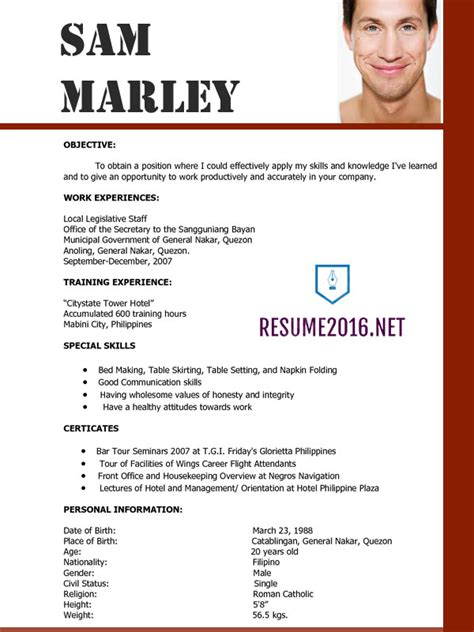 resume updated format resume templates 2016 which one should you choose