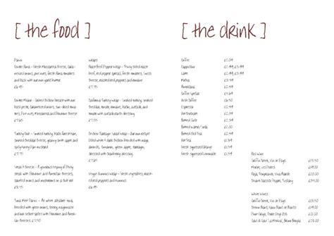 simple menu template free invitation template