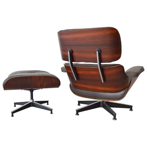 Eames Lounge Chair Rosewood by Rosewood Eames Lounge Chair With Matching Ottoman At 1stdibs
