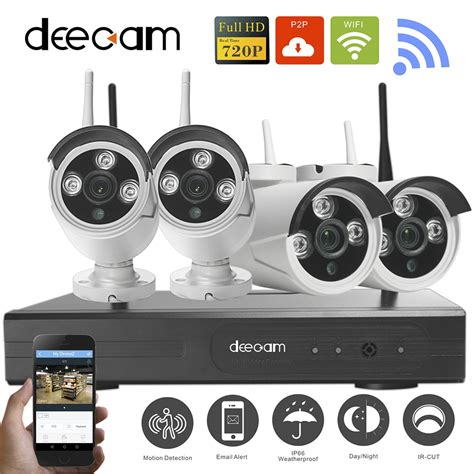 deecam 4ch ir hd home security wifi wireless ip