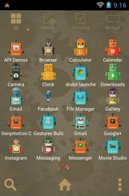 vintage themes for android vintage robot android theme for dodol launcher
