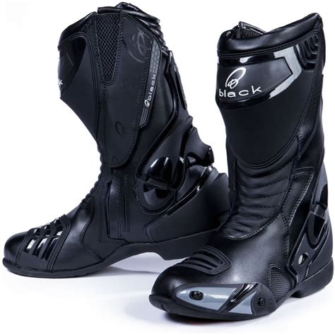 motorcycle road boots black venom race track road motorcycle motorbike boots all