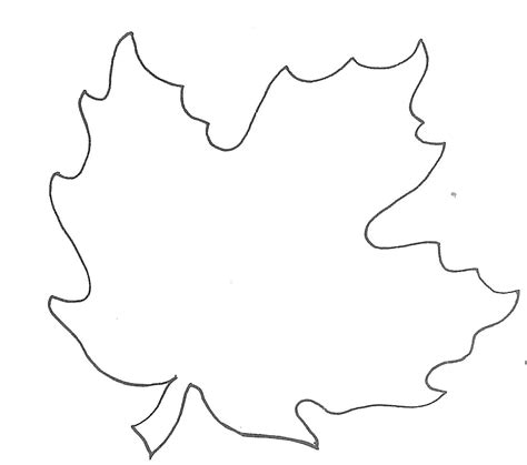 printable small leaves maple leaf template to print clipart best
