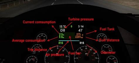 Kenworth Dash Warning Lights by Peterbilt 579 Dashboard For Ats American Truck Simulator