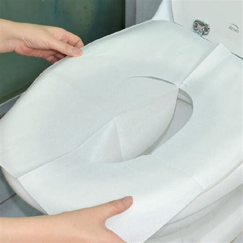 bathroom seat cover 30pcs disposable toilet mat antibacterial waterproof seat
