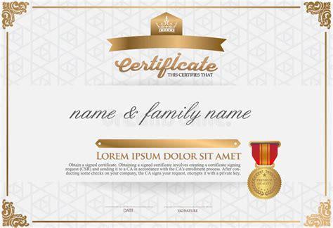certificate design font free download certificate design template stock vector illustration
