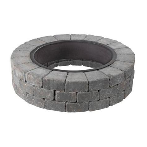 Necessories Grand Fire Pit 48 In Concrete Fire Pit In Pit Ring Kit