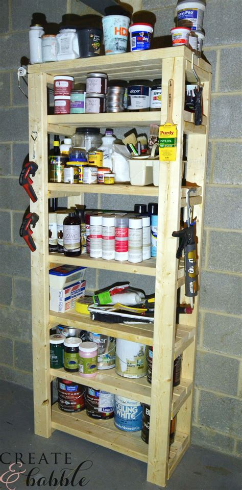 Painting 2x4 by Paint Storage Shelf Made With 2x4s Create And Babble