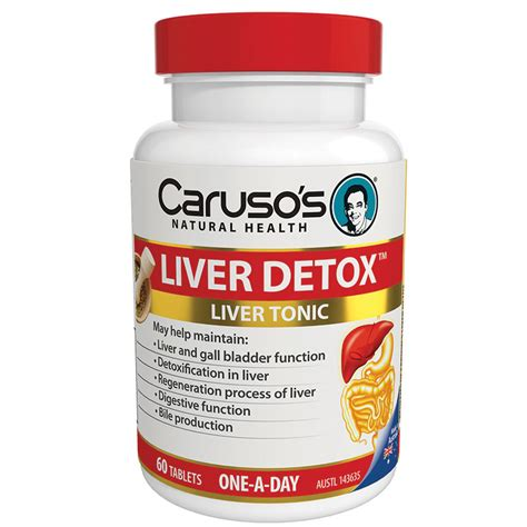 Best Liver Detox Products by Carusos Health Cleanse Liver Clear Detox 60