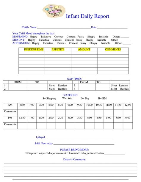 daily report card template daily report sheet images daily notes