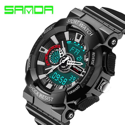 S Shock Sport 2168 2016 sanda quartz digital watches waterproof sport g style s shock