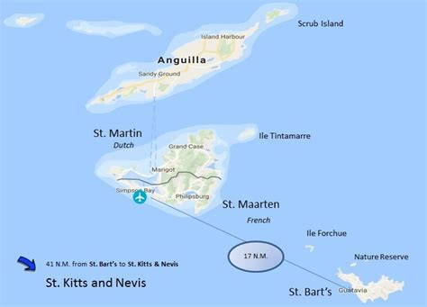 map of st and surrounding islands charter the windward islands of st maarten to st kitts