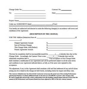 construction change order template sle change order template 10 free documents in pdf
