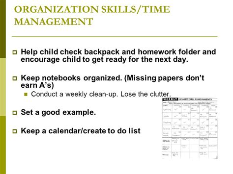homework organization and planning skills homework help strategies time management and