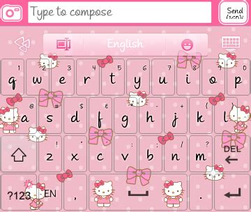 hello kitty themes go keyboard hello kitty go keyboard skins android themes
