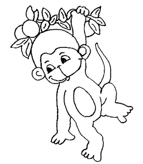 small monkey coloring page dibujos de monos para colorear y pintar