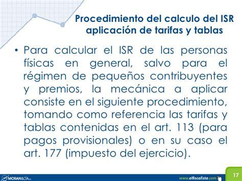 tarifa art 142 rlisr tarifa del art 113 de la ley del isr para 2016 art 96