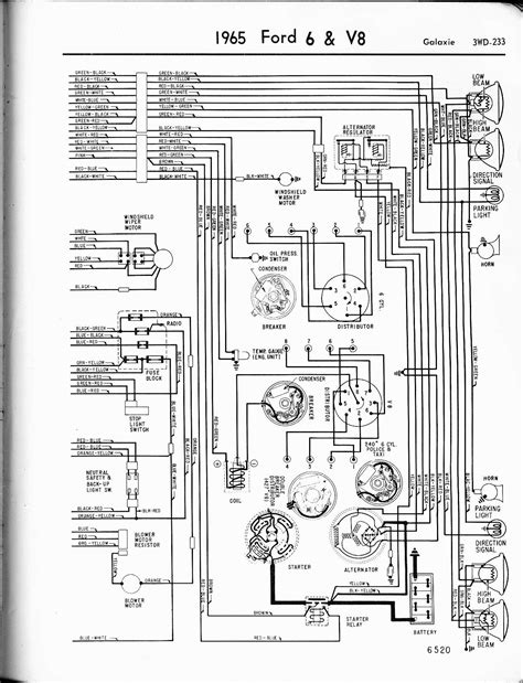 free wiring diagrams automotive ford galaxie 1965 6 v8 galaxie right quot black friday