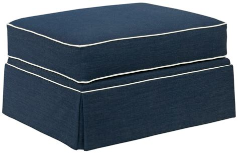 hudson ottoman broyhill furniture emily ottoman with skirted base