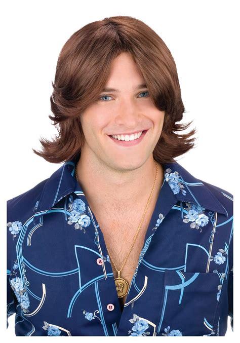 photographs of 1970s shag hair cuts for men brown ladies man wig