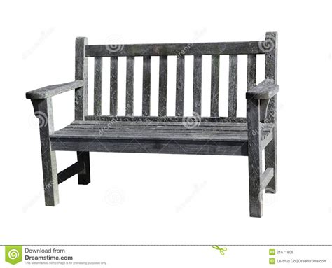 used wooden bench old wooden bench in forest royalty free stock photography