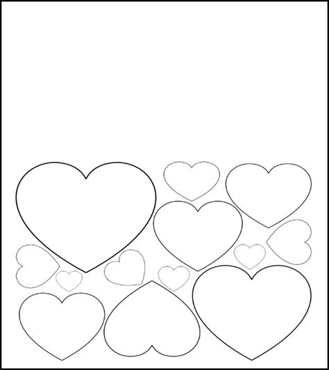 valentines day card templates free printable s day card to color pattern