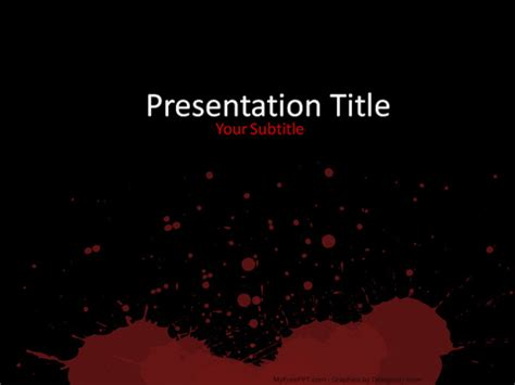 Murder Powerpoint Template Free Textures Powerpoint Templates Themes Ppt