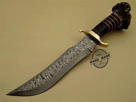 Handmade Dagger - damascus dagger knife custom handmade damascus steel