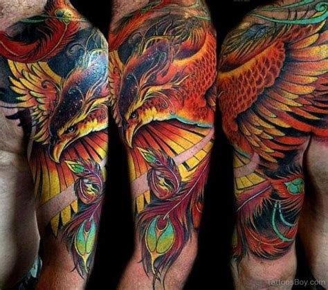 phoenix tattoo sleeve bird tattoos designs pictures page 18