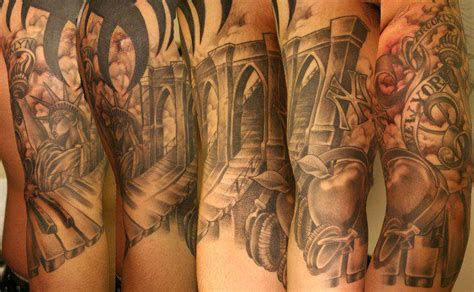 tattoo pictures of new york new york half sleeve by teresa sharpe tattoonow
