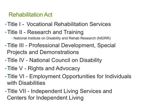 section 501 of the rehabilitation act of 1973 legislation preparing for the atp exam michelle lange 3098