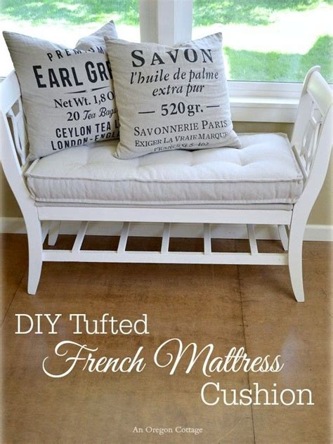 bench cushions diy diy tufted french mattress cushion ballard catalog