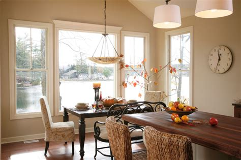 lake house dining room ideas lake house eclectic dining room grand rapids by