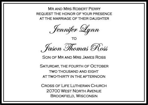 how to put attire in wedding invitation custom wedding invitations 6u