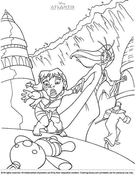 Atlantis The Lost Empire Coloring Pages atlantis the lost empire coloring picture