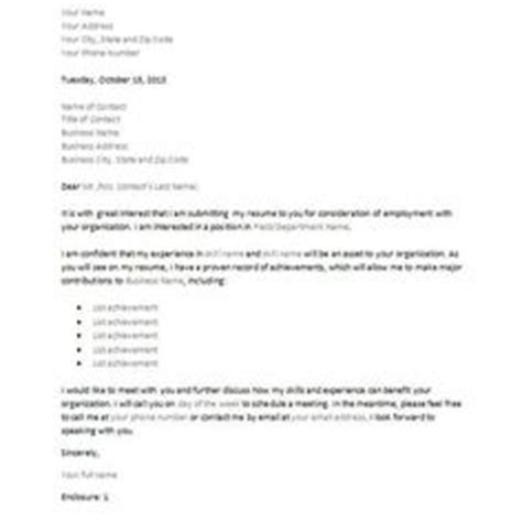 inquiry cover letter letter of inquiry is sent to