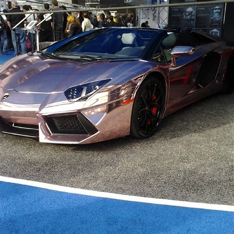 rose gold lamborghini rose gold chrome lamborghini vinyl wrap 2013 sema show