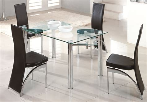 glass kitchen table with 6 chairs glass dining table write